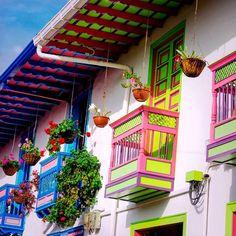 Colombia - Terrazas de Salento, Quindio. San Rafael, Jeep Willys, Color Inspiration, Vivid Colors, Travelling, Trips, Paradise, Scenery, Fair Grounds