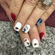New England Patriots nails