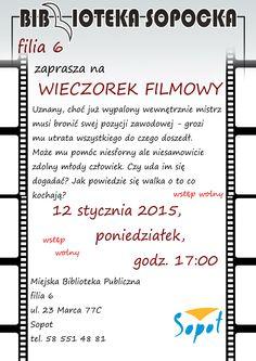 Wieczorek Filmowy #film #movie #mbpsopot #bibliotekasopocka #sopot #library