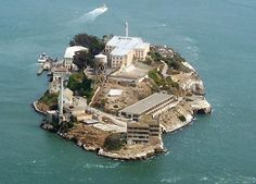 Alcatraz - notorious prison. Alcatraz Island is an island located in the San Francisco Bay, 1.5 miles offshore from San Francisco, California,