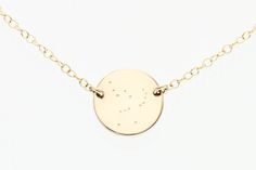 Orion necklace - constellation necklace - orion constellation necklace - gold disc necklace - dainty gold necklace - minimalist necklace