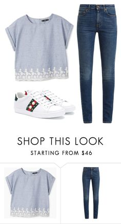 """""""day"""" by juliadb on Polyvore featuring MANGO, Yves Saint Laurent and Gucci"""