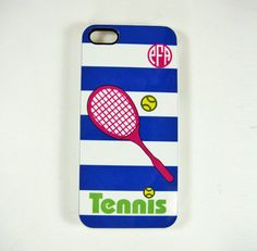 iPhone 4 4S or 5 Cell Phone Case Tennis Design by personalize4you, $17.00 @Denise H. H. McNamara