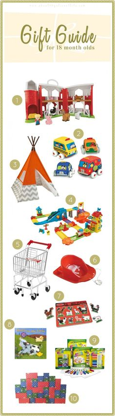 Gift Ideas for Toddlers (18 Months)