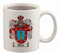 $15.99 Reyes Coat of Arms Mug / Family Crest 11 ounce cup