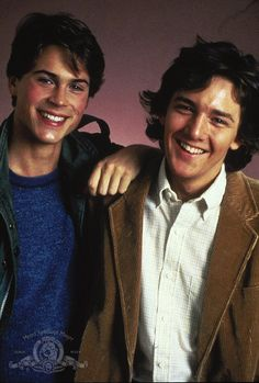 Rob Lowe and Andrew McCarthy, I wish I grew up in the 80's so I could watch them on the big screeeen
