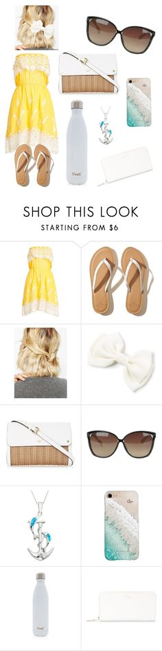 """Sunday Dress on a Sunny day"" by jkolbe31 on Polyvore featuring Christophe Sauvat, Hollister Co., WithChic, Linda Farrow, La Preciosa, Gray Malin, S'well and Smythson"