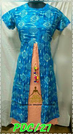 Tie n die dress with latkan