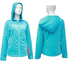 The North Face Pink Ribbon Osito Hoodie Jackets Blue