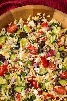 Greek Orzo Salad - Cooking Classy