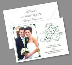 Kleinfeld Paper || Peace Love Joy Holiday Photo Card