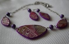 earrings and necklace from polymer by NattyMaty