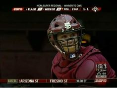 """2008 Super Regional in Tallahassee--Buster Posey throws out WSU baserunner and then mouths, """"I ain't having it. Buster Posey, Fans, Humor, Videos, Humour, Funny Photos, Funny Humor, Comedy, Lifting Humor"""