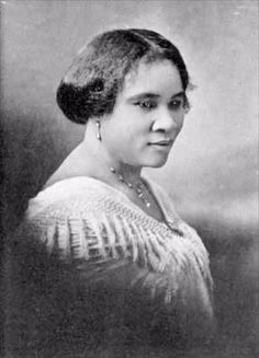 Madam C.J. Walker the first American woman to become a millionaire. Walker overcame a childhood of cotton-picking and domestic labor to realize her dreams of entrepreneurship. Seeing a need for hair care remedies for black women, Walker decided to create and sell such products door-to-door herself. These efforts evolved into a business empire that included a beauty product factory, trained salesmen and a beauty school.