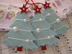 Blue Glittery Christmas Trees | Flickr - Photo Sharing!
