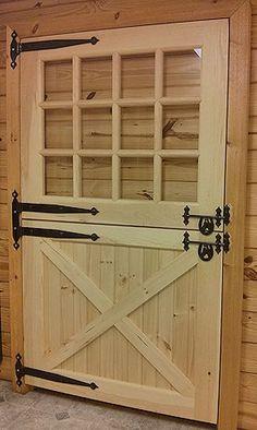 Wooden Solid Dutch Door with Window