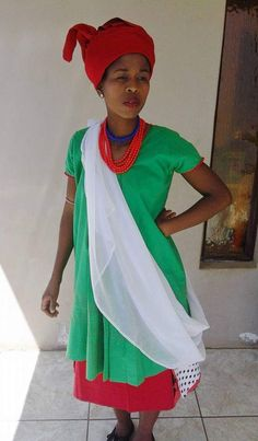 by Fatiki designs South African Traditional Dresses, Sari, How To Wear, Design, Fashion, Saree, Moda, Fashion Styles
