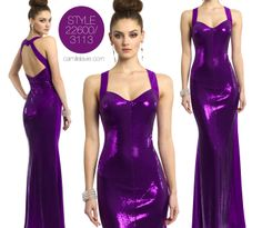 Camille la Vie Sequin Long Prom Dress in Gorgeous Purple