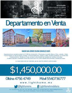 RANCHO SAN LORENZO GIRASOLES COAPA Departamento en Venta - 70m2 - 3 Recamaras  - 1 Baño Completo - 1 Estacionamientos - Vigilancia Privada 24 Hrs. - SOLO PAGO DE CONTADO Precio $1,450,000.00 Contamos con mas fotos , solo regístrate Light Home Inmobiliaria - Donde Empiezan tus sueños Asesoría Gratuita Oficina 47564749 http://www.lighthome.mx