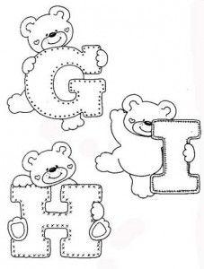 desenhos-alfabeto-ursinhos-enfeite-sala-de-aula-infantil-(2) - alphabet and teddy coloring