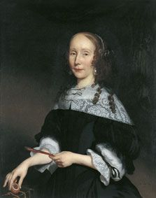 Amsterdam active - - 60s tabard -- Portrait of a Lady,1667 by Nicolaes Maes