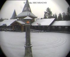 Santa Claus Village webcam at the arctic circle in Rovaniemi in Finnish Lapland