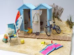 However if we were to mention any core reason than that reason would be that the Fairy Garden, makes your garden look beautiful and eye catching. Miniature Crafts, Miniature Fairy Gardens, Miniature Houses, Miniature Dolls, Victorian Dollhouse, Miniature Beach Scene, Beach Fairy Garden, Vitrine Miniature, Beach Scenes