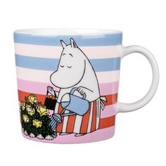 Moomin Mug Rose Garden Arabia Finland Summer 2010 Finland Summer, Moomin Mugs, Tove Jansson, White Books, Cool Mugs, Fairy Godmother, Vintage Pottery, Ceramic Clay, Mug Designs