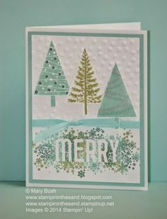 Stampin' in the Sand: Scattered Merry Trees