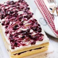Swirly Mascarpone and Fruit Cake
