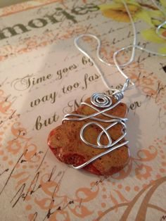 A personal favorite from my Etsy shop https://www.etsy.com/listing/240524636/wire-wrap-pendant-necklace-peach