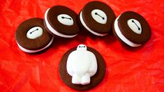 do this with graham crackers and they are instant baymax smores!!!! no baking!