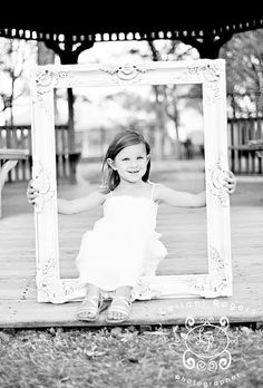 Toddler picture - old frame
