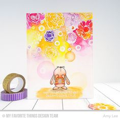 Pretty Posies, Snuggle Bunnies - Amy Lee  #mftstamps