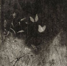 Butterflies by William Baxter Closson, ca. 1887 (Detail)