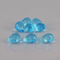 9.47ctw 7x5x5mm Drop Swiss Blue Topaz Excellent Eye Clean AA+