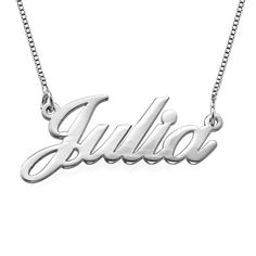 Sterling Silver Double Thickness Name Necklace  Custom Made with any Name Sterling Silver 20 Inches *** Learn more by visiting the image link-affiliate link. #Necklaces