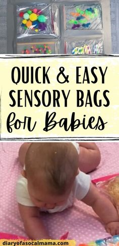 Dollar store sensory bags for babies - Diary of a So Cal mama