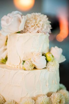 Yum!This cake looks as delicious as it is beautiful! Montecito wedding designed by Brooke Keegan, photos by Callaway Gable Photography via JunebugWeddings.com