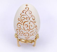 Carved Goose Eggshell, Christmas Tree With Swarovski, Unique Gift Egg mounted to a Battery LED Light, Egg Art, Christmas Gifts Illumination Unique Christmas Gifts, Holiday Fun, Unique Gifts, Great Gifts, Christmas Tree, Christmas Ornaments, Egg Crafts, Diy And Crafts, Etsy Handmade