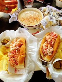 Barnacle Billy's - Ogunquit, Maine. Lobster Rolls and Chowdah. July 2013.