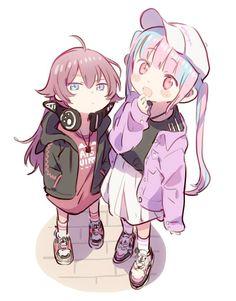 Dream Drawing, Sisters Forever, Anime Child, Hot Anime Boy, Kokoro, Girl Bands, Kawaii Anime, Cute Art, Cool Girl