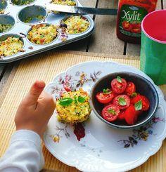 Reisküche: Reis & Quinoa & Couscous-Muffins Quinoa, Muffins, Couscous, Bruschetta, Vegetables, Ethnic Recipes, Food, Kochen, Rice