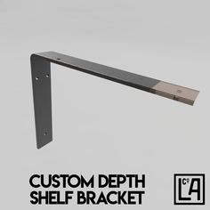 Industrial Steel Shelf Bracket No.1 | Customisable Depth