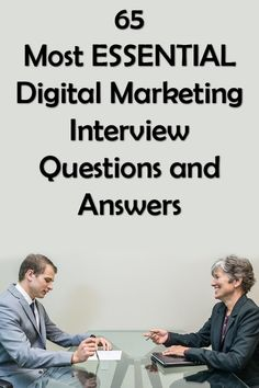 Digital Marketing Interview Questions and Answers. We're going to discuss 65 – Most Essential Digital Marketing Interview Questions and Answers in the next part of the article. These questions and answers are going to be beneficial for you if you are preparing for a Digital Marketing Interview. Marketing Interview Questions, Interview Questions And Answers, Email Marketing, Content Marketing, Digital Marketing, Question And Answer, This Or That Questions, Keyword Planner, Social Media Site