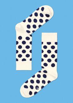 happy socks dot crew sock