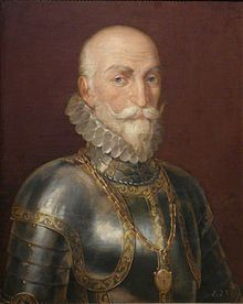 Alvaro de Bazan, 1st Marquis de Santa Cruz (1526-1588) was an experienced Spanish naval commander. He saw action at Lepanto and during the Spanish conquest of the Azores. He would have commanded the First Armada but died before it sailed.
