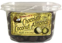 The Best Trader Joe's Snacks. Period. #refinery29  http://www.refinery29.com/party-food#slide-1  Chocolate Coconut AlmondsLike a candy bar's more social older sibling. ...