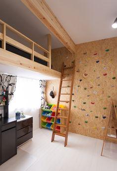 子供部屋にロフト 大工工事でできる程度で、簡単に板を張るだけでよい