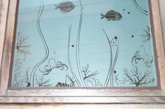 One level (clear/not)   Sandblasted Sea Theme Window